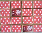 First Birthday Gift-Wooden Toy Photo Matching Game by burlap and blue