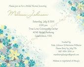 Flower Bridal Shower Invitation Flower Invitation Flower Wedding Shower Invitation Bridal Invite Wedding Shower Invite Printable Invitation