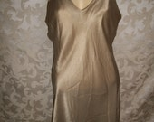 Vintage 90s Silk Camisole Nightgown Size Large