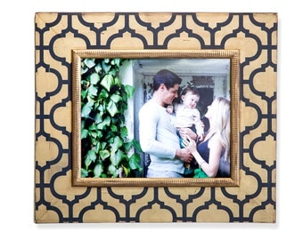16x20 Morocco Portrait Frame Navy and Gold