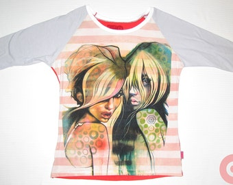 XL ladies 2 Betties baseball shirt BE048