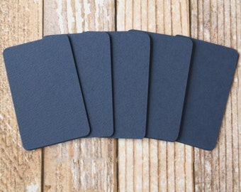 50pc NAVY BLUE Lakeland Series Business Card Blanks