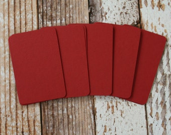 50pc RUBY Red Lakeland Series Business Card Blanks