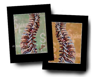 artwork for chiropractic office chiropractor office features spine in choice of colors perfect artwork print decor in 11x14 inch mat