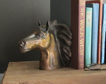 vintage bookend - home decor - Horse Head