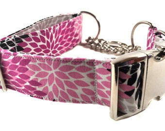 Metal Buckle Chain Martingale Collar - You Pick the Fabric