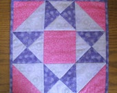 Quilted Pink & Purple Table Mat, Place Mat, Candle Mat