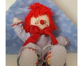 Happy Handmade Cloth Clown Doll