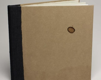 20 page, handmade, hardbound, blank, tea stained pamphlet, sketch book