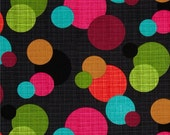 New Fabric Black Grey Pink Orange Lime Aqua Turquoise Circles iPhone 5 6 Plus Note Phone Case Zipper Closure with Wristlet Samsung Android