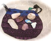 Energy Meditation Pouch with 7 natural crystals ideal for Helping with Mediation