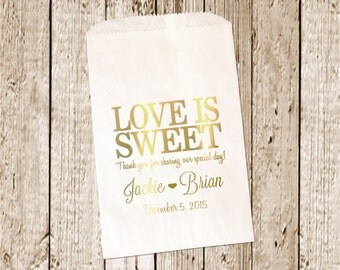 Gold Foil Printed Custom Favor bags/Candy bags/Candy Bar bags/favor Bags  25 count gold Foil Printed