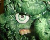 Creepy cyclops creature with crazy realistic teeth. Fairy goblin.