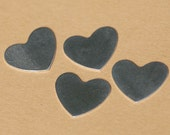 Sterling Silver 24g Heart Classic Metal Blanks Shape Form  - 925