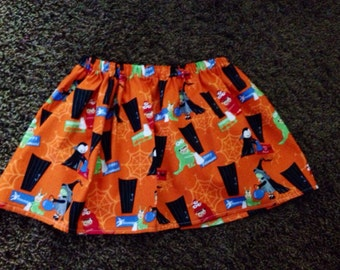 Halloween trick or treat skirt rts 24 months