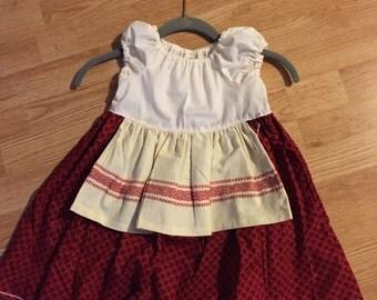 Christmas dress size 2T rts