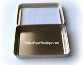 Candy Tins - Rectangle Window Tin with Hinged Lid - Treats, Favors - Great for Planner or Craft Accessories - Container, Storage Box