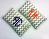Set of 2 Monogrammed Scented Hot/Cold Compress, Hand Warmer, Nail Wrap Applicator,