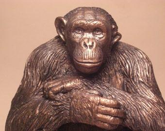 Chimpanzee Negra Sculpture  Chimpanzee Sanctuary Northwest