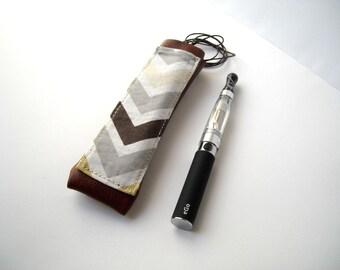 E cigarette case with lanyard geometric ecig vaporizer holder faux leather e-cig hanging holster Ego Vaporfi vape pen sheath with pocket