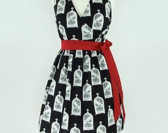 Steampunk Nevermore Edgar Allen Poe Inspired Bird Cages Dress