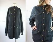 Vintage Native American Cotton Oversized Boyfriend Jacket