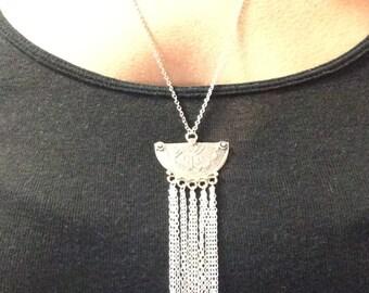NEW// Sterling Silver Fringe Necklace