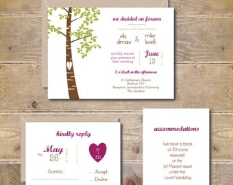 oak tree wedding invitations  etsy, Wedding invitations