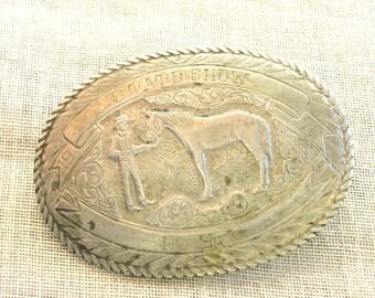 Western Belt Buckle , Silver Western Style Buckle , Equestrian Buckle , Rodeo Buckle , Western Wear , Cowboy Style
