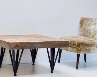 Reclaimed Wood Coffee Table Repurposed Legs