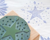 Reserved for Martha // Winterly rubber stamp: Christmas star #02