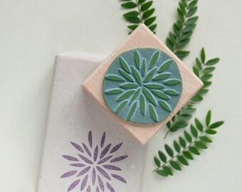Winterly rubber stamp: Blossom star