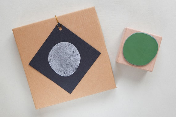 Rubber Stamp: GIANT dot for jam labels, address labels and pattern