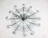 "12"" Terrific Charlotte's Web Inspired Barbed Wire Spider Web Made to Order"