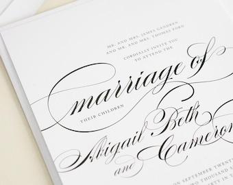 Classic Wedding Invitations - Marriage Design Sample
