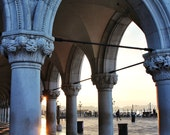 Fine Art Photography, Doge's Palace on St Mark's Square, Venice, Italy, early morning sunrise, 8x12 shown