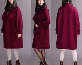 Sauce Red Jacket Women's coats long sections