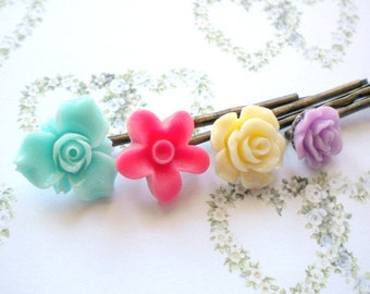 Gifts For Kid Flower Girl Hair Accessories Children Gift Pastel Bobby Pin Children Bobby Pin Floral Hair Pin Gift Set For Children