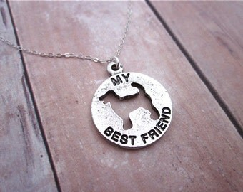 Dog Lover Necklace -- Pet Dog Pendant Necklace -- Women's Dog Necklace -- Animal Rescue Necklace -- Pet Necklace -- Man's Best Friend