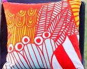 "16""x16"" Marimekko Pillow Cover. Handmade. Pattern: Sirtolapuutarha by Maija Louekari."