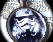 BATTLE SCAR STORMTROOPER . Glass Pendant Necklace . Star Wars . Space . GirlGameGeek