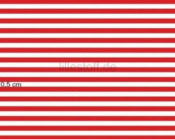 """Lillestoff Stretchjersey """"Stripes"""" Red and White by Lillestoff  Organic  Cotton Fabric"""