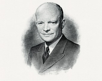 Bureau of Engraving and Printing reproduction Intaglio engraving 8 x 10 Dwight Eisenhower