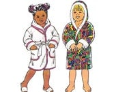 Toddlers Robe Dressing Gown Hooded Wrap Pattern Kwik Sew 2259 Size 1 - 4 UNCUT Factory Folded master pattern