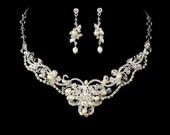 SALE! Bridal Jewelry Set Crystal and Pearl