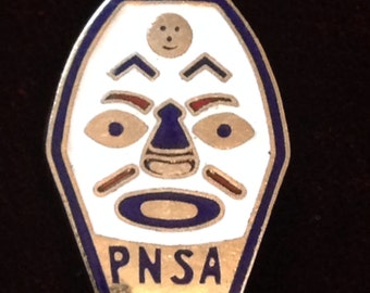 PNSA enamel pin. Pacific northwest ski association. Washington