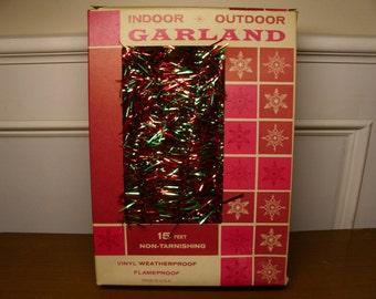 Vintage 1960's Christmas Garland  15 Ft.  Deadstock