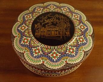 Vintage 1960's Daher Tin w/Mosaic Design