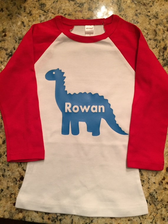 Boys Personalized Dinosaur Shirt