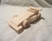 Wooden Indy Race Car toy child durable wood handmade toddler